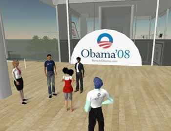 Campaña Obama 2008 en Second Life