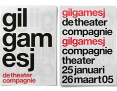 Carteles para The Theater Compagnie. Experimental Jetset